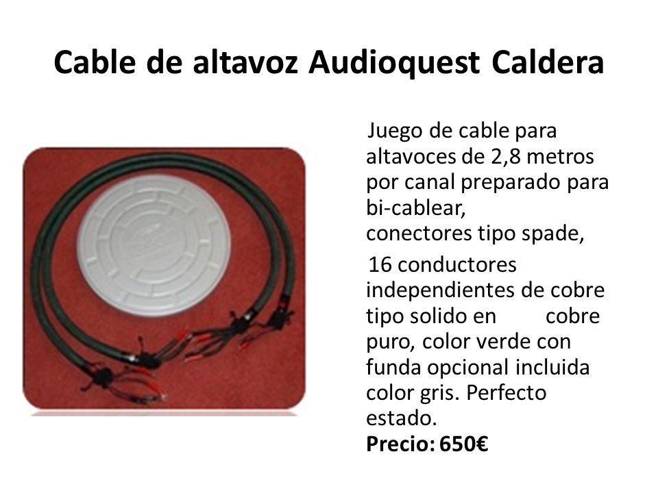 Cable de altavoz Audioquest Caldera