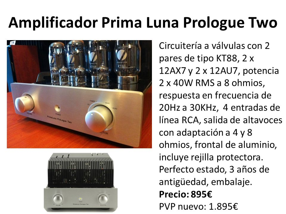 Amplificador Prima Luna Prologue Two