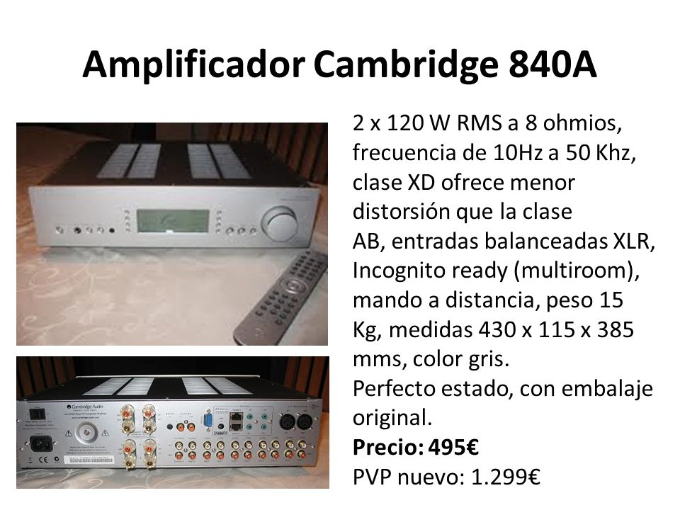 Amplificador Cambridge 840A