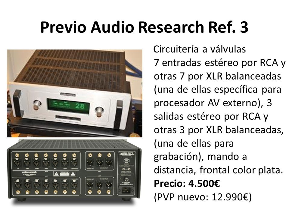 Previo Audio Research Ref. 3