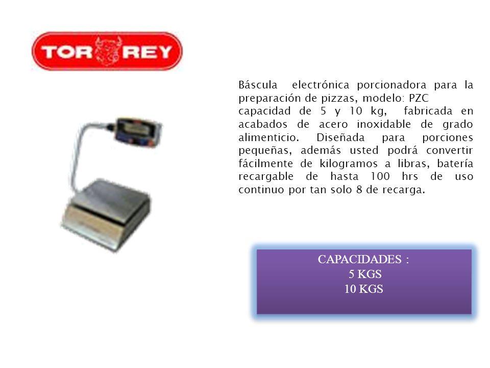 Báscula electrónica porcionadora para la preparación de pizzas, modelo: PZC