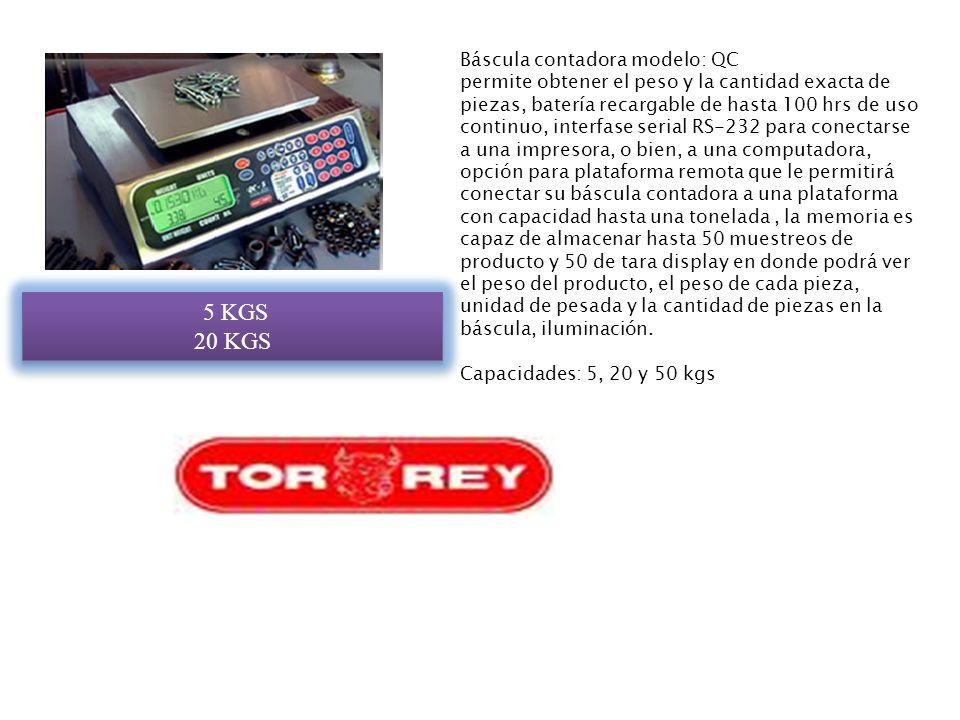 5 KGS 20 KGS Báscula contadora modelo: QC