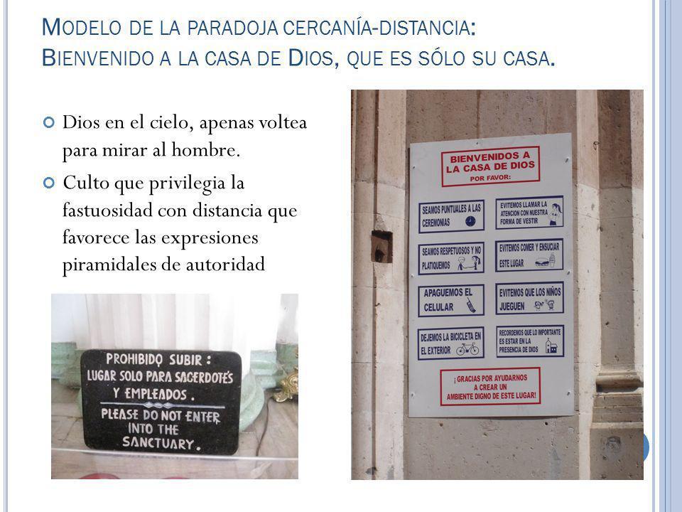 Modelo de la paradoja cercanía-distancia: Bienvenido a la casa de Dios, que es sólo su casa.