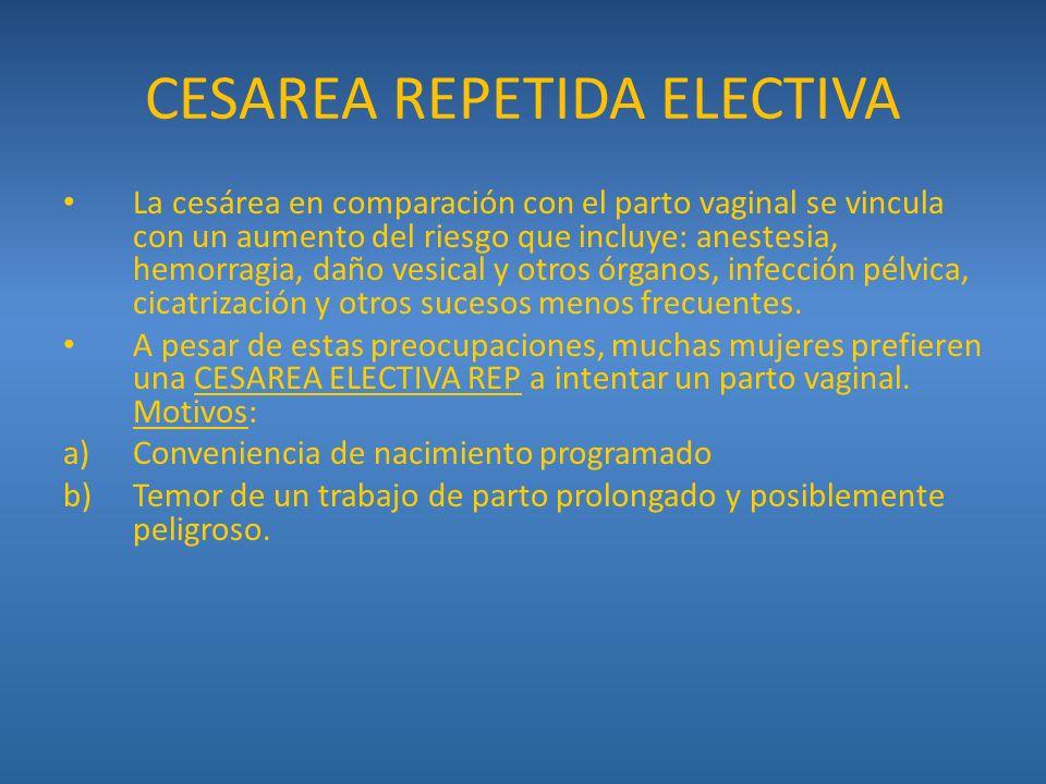 CESAREA REPETIDA ELECTIVA