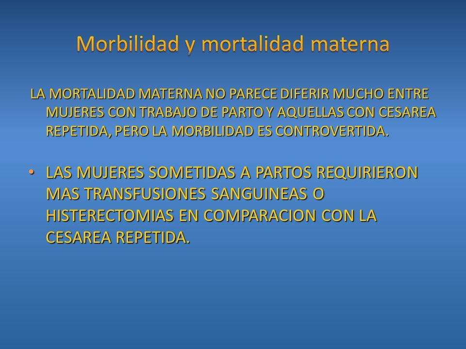 Morbilidad y mortalidad materna