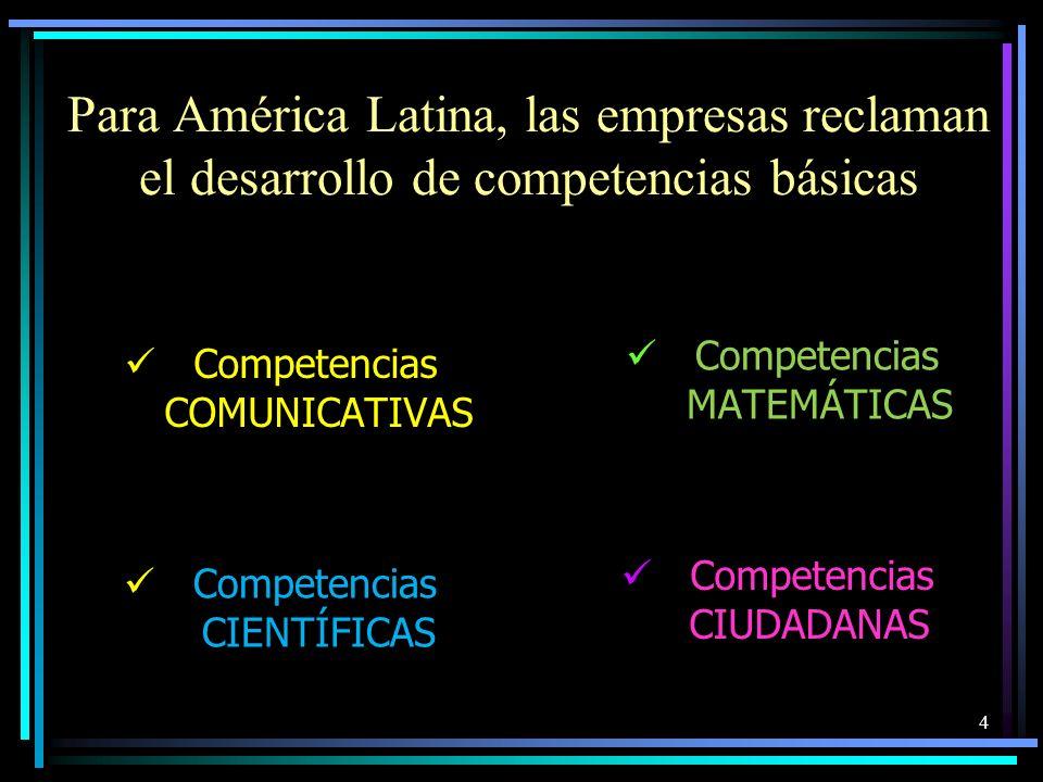Para América Latina, las empresas reclaman el desarrollo de competencias básicas