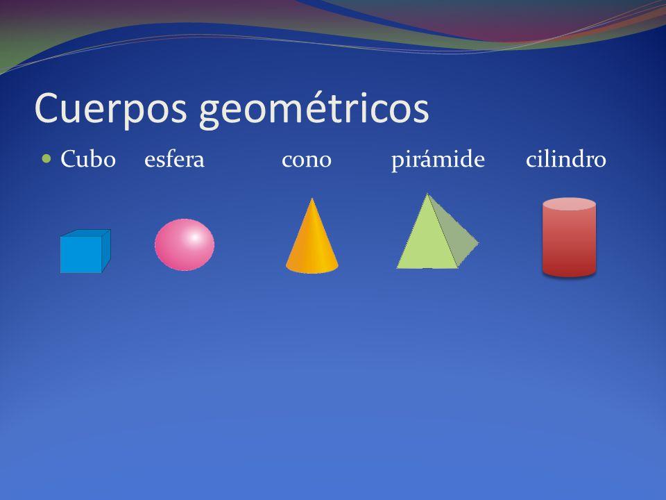 Cuerpos geométricos Cubo esfera cono pirámide cilindro