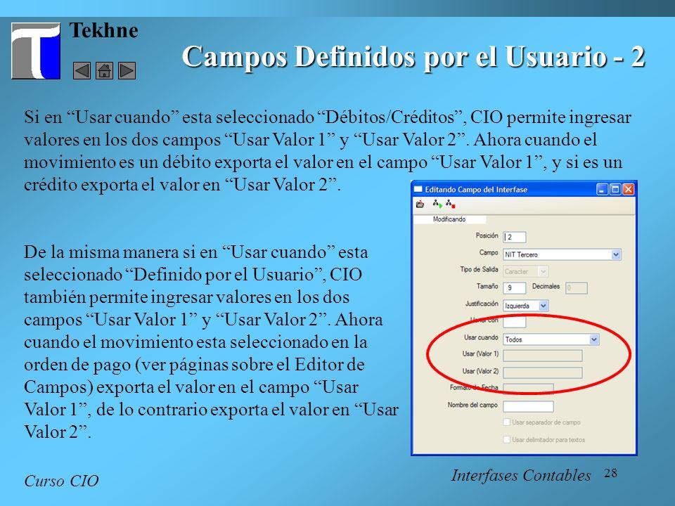 Campos Definidos por el Usuario - 2