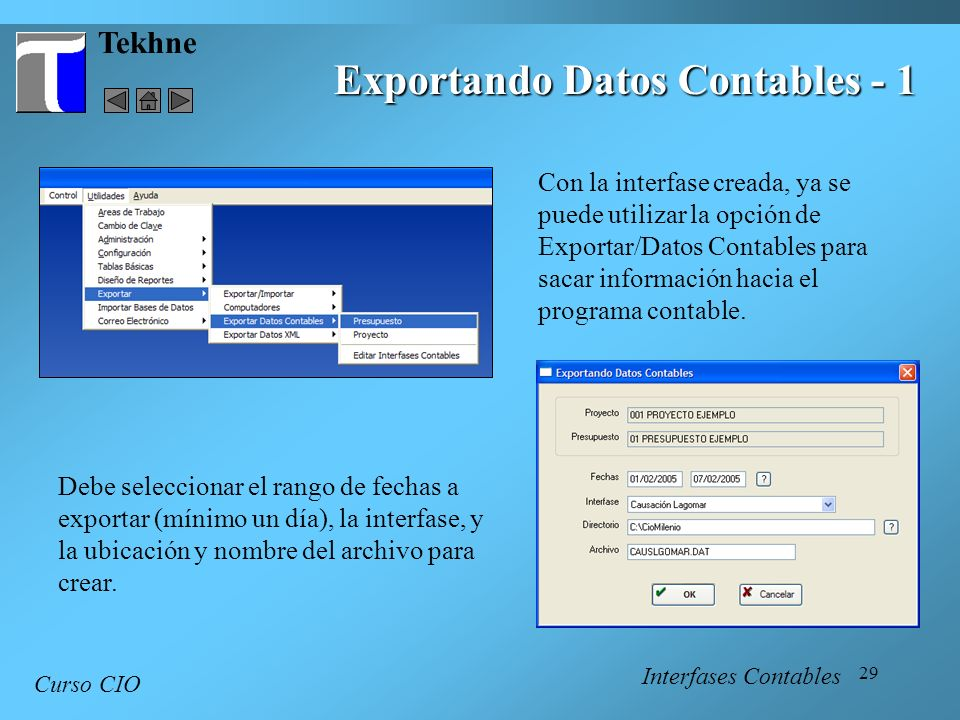 Exportando Datos Contables - 1