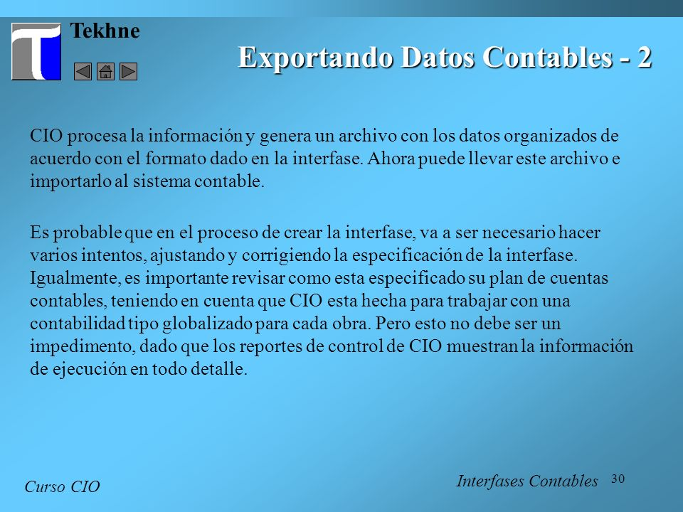 Exportando Datos Contables - 2