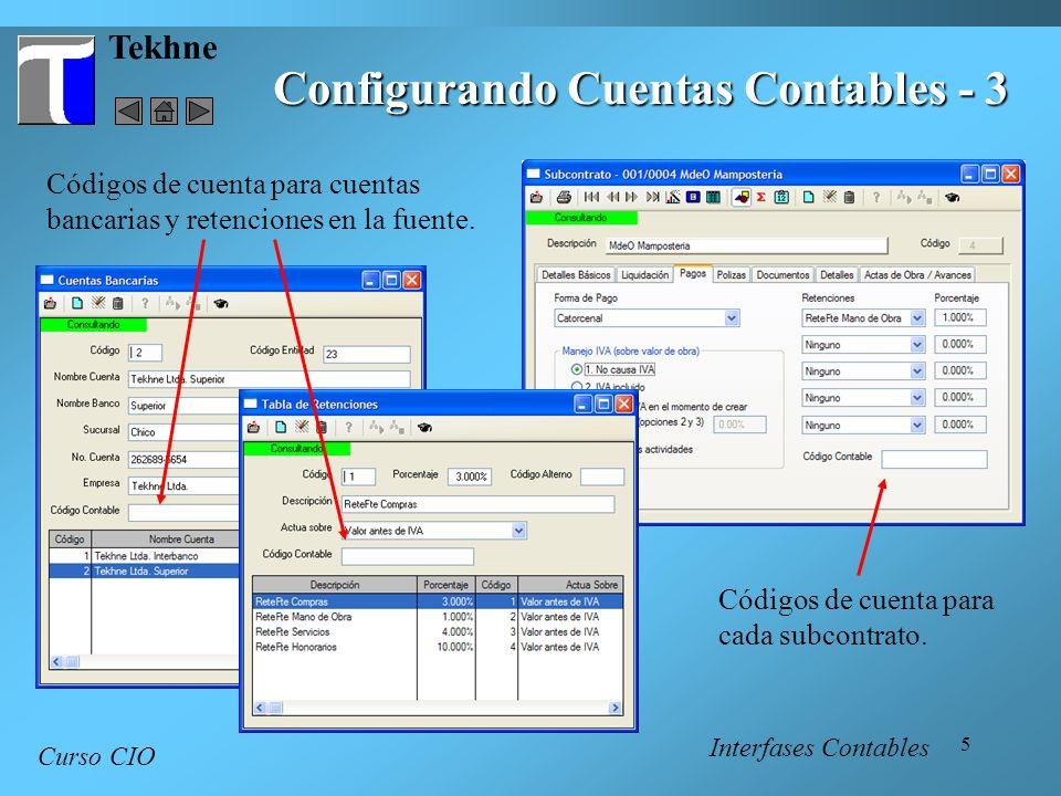 Configurando Cuentas Contables - 3