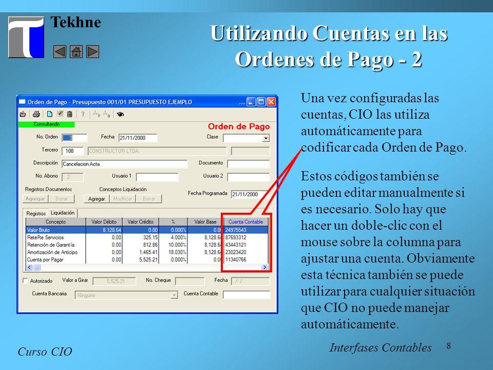 Utilizando Cuentas en las Ordenes de Pago - 2