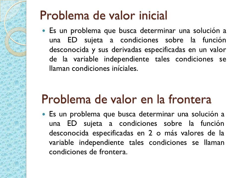 Problema de valor inicial