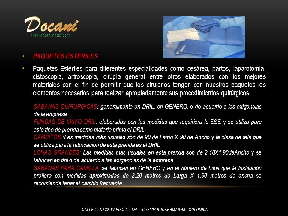 www.docani.hostzi.com PAQUETES ESTÉRILES.