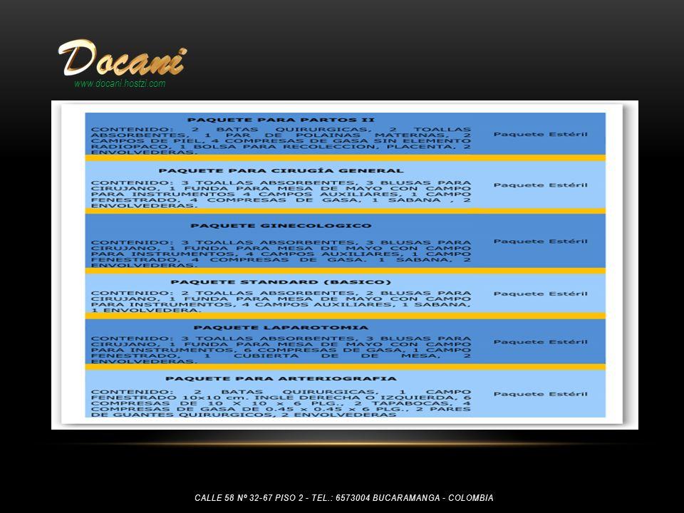 www.docani.hostzi.com Calle 58 Nº 32-67 piso 2 - tel.: 6573004 Bucaramanga - Colombia