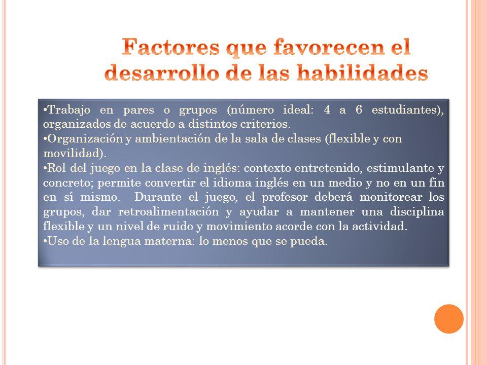 Factores que favorecen el desarrollo de las habilidades