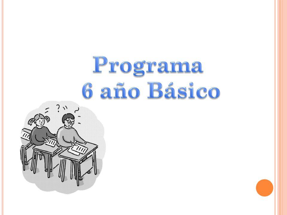 Programa 6 año Básico