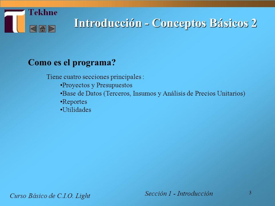 Introducción - Conceptos Básicos 2