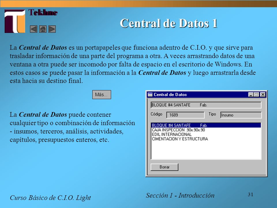 Central de Datos 1 Tekhne