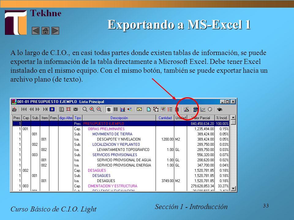 Exportando a MS-Excel 1