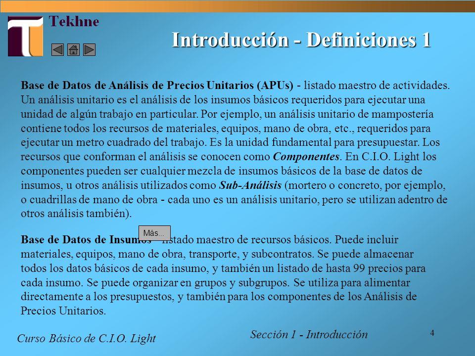Introducción - Definiciones 1