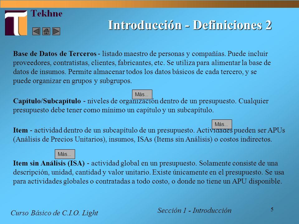 Introducción - Definiciones 2