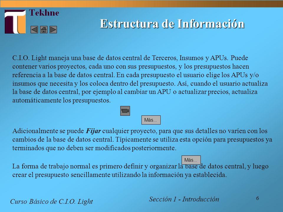 Estructura de Información