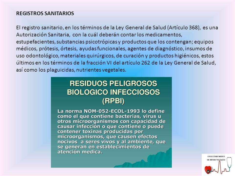 REGISTROS SANITARIOS