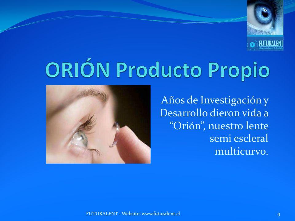 ORIÓN Producto Propio Años de Investigación y Desarrollo dieron vida a Orión , nuestro lente semi escleral multicurvo.