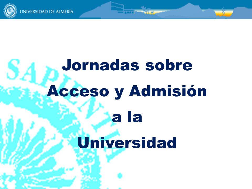 Jornadas sobre Acceso y Admisión a la Universidad Clicks del mouse =