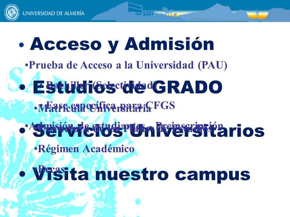 Servicios Universitarios Visita nuestro campus
