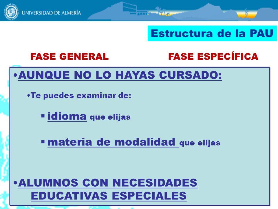 AUNQUE NO LO HAYAS CURSADO: