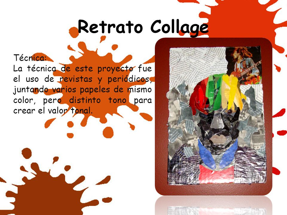 Retrato Collage Técnica: