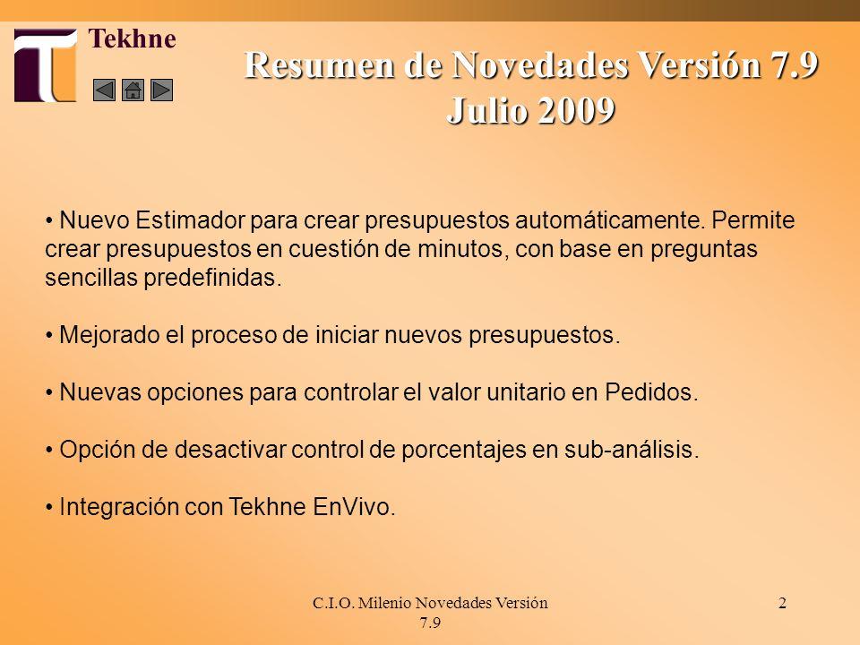 Resumen de Novedades Versión 7.9