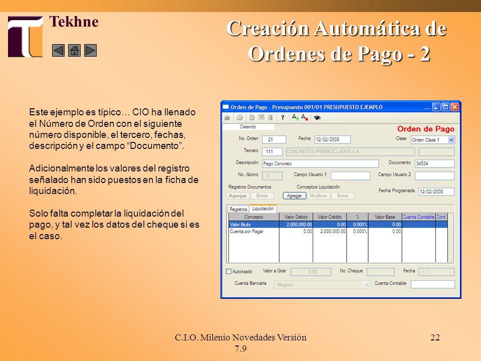 Creación Automática de
