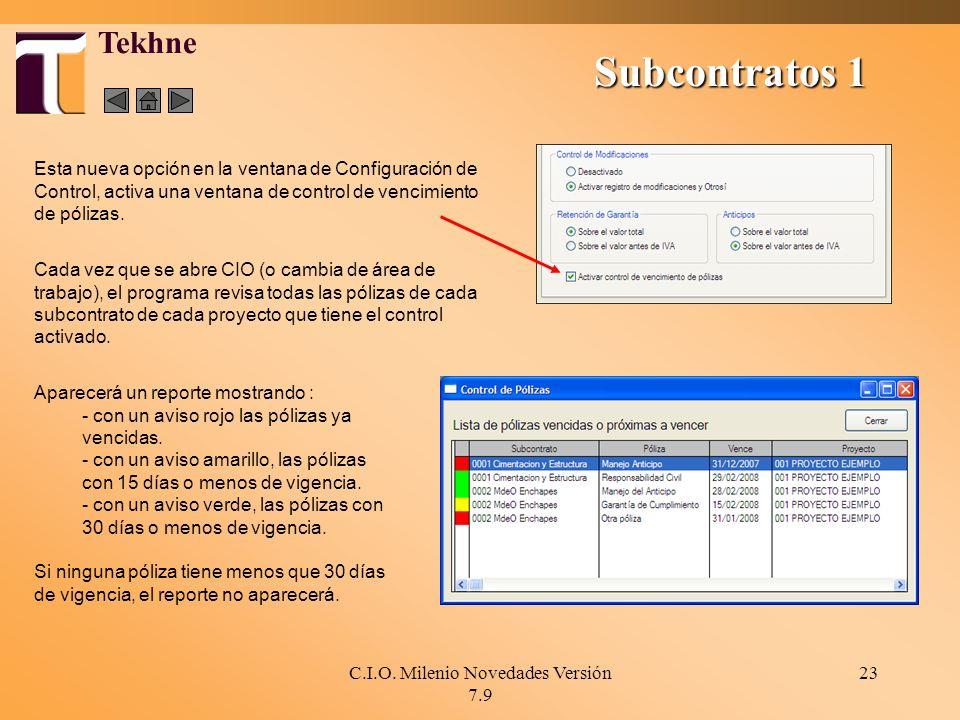 C.I.O. Milenio Novedades Versión 7.9