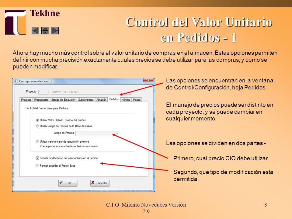 Control del Valor Unitario en Pedidos - 1