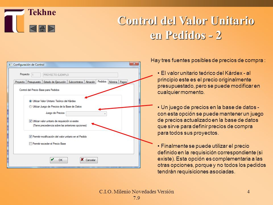 Control del Valor Unitario en Pedidos - 2
