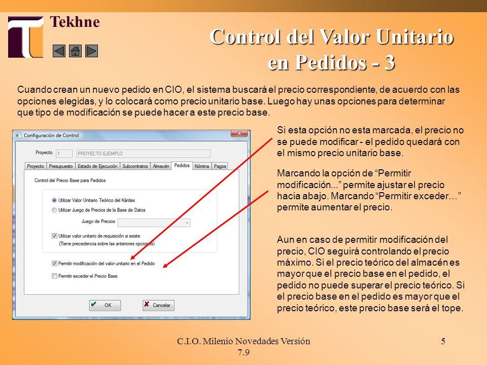 Control del Valor Unitario en Pedidos - 3