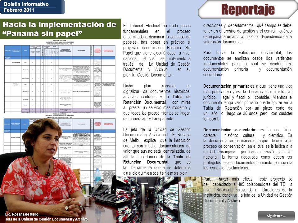 Reportaje Hacia la implementación de Panamá sin papel