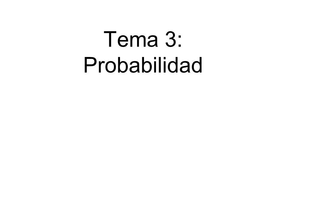 Tema 3: Probabilidad Bioestadística