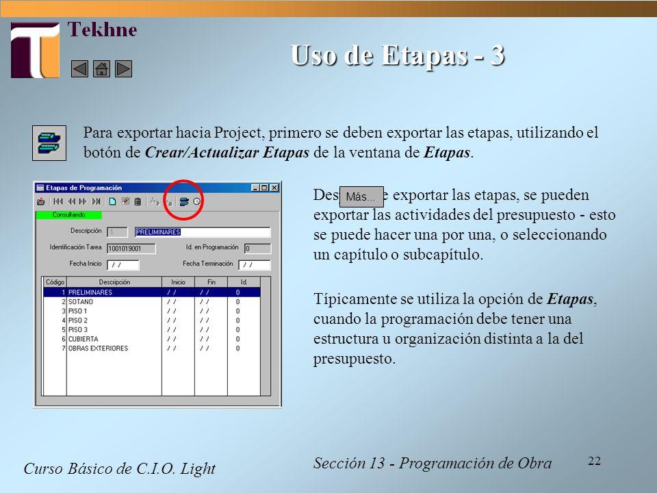 Uso de Etapas - 3