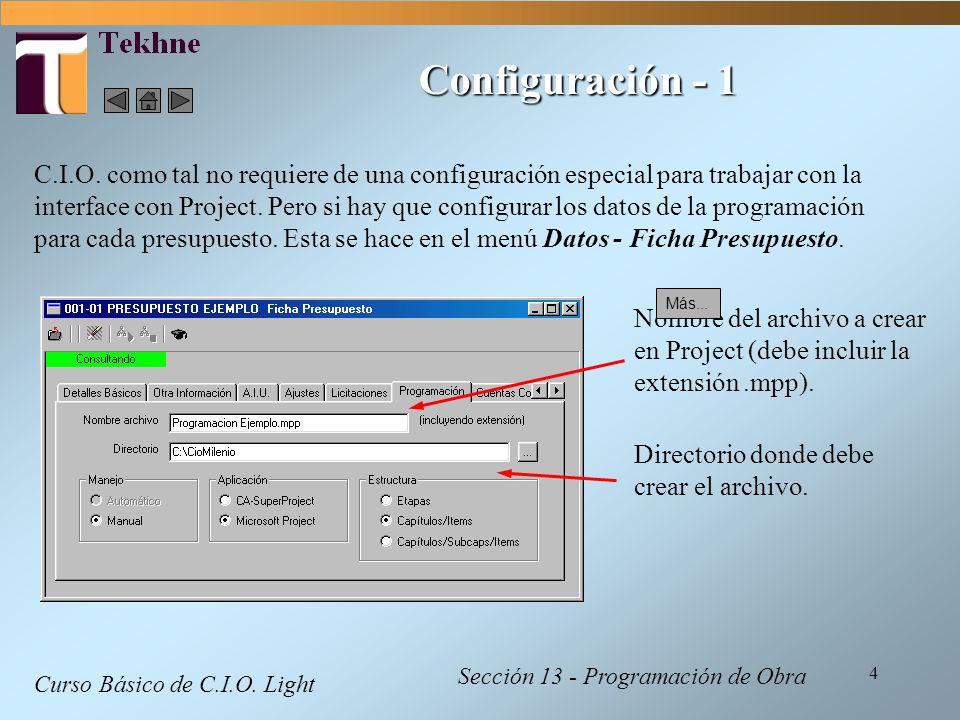 Configuración - 1