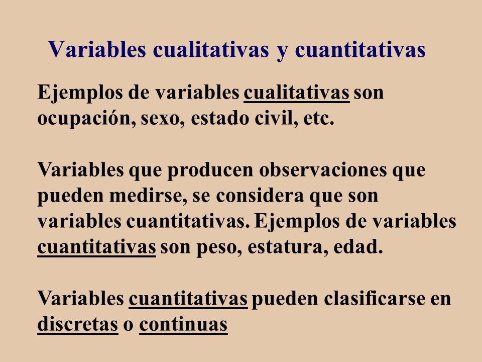 Variables cualitativas y cuantitativas
