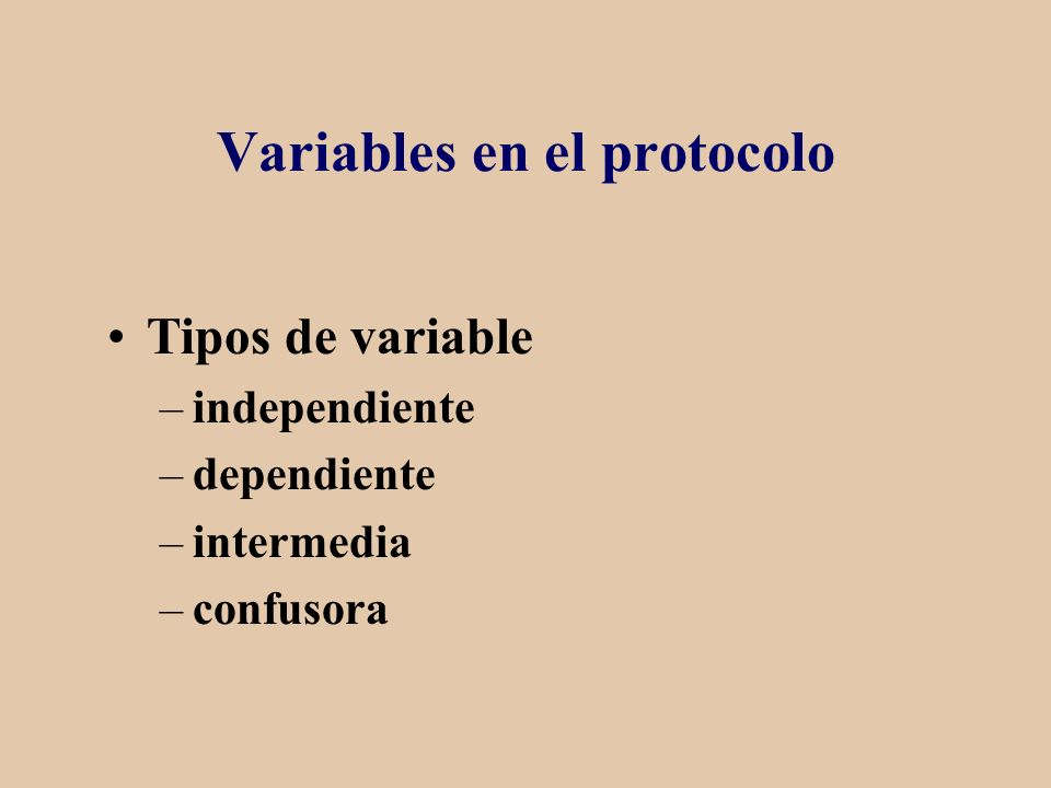 Variables en el protocolo