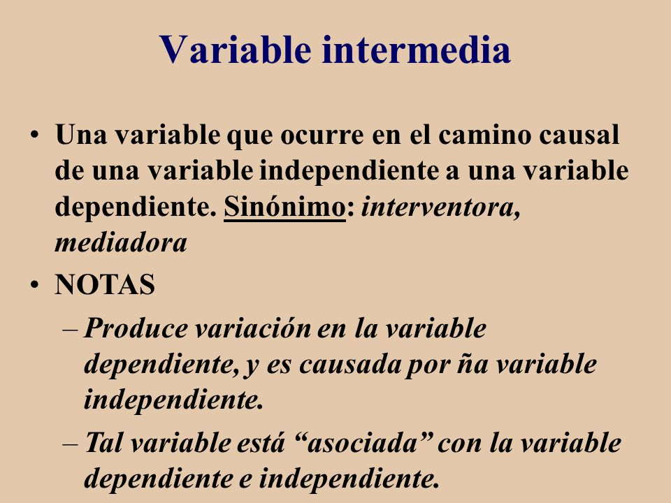 Variable intermedia
