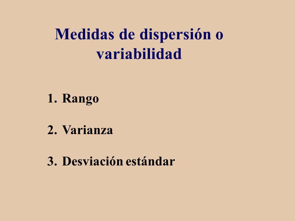 Medidas de dispersión o variabilidad