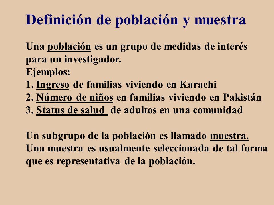 Definición de población y muestra