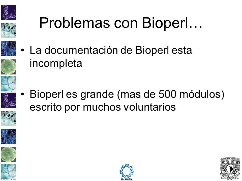 Problemas con Bioperl…