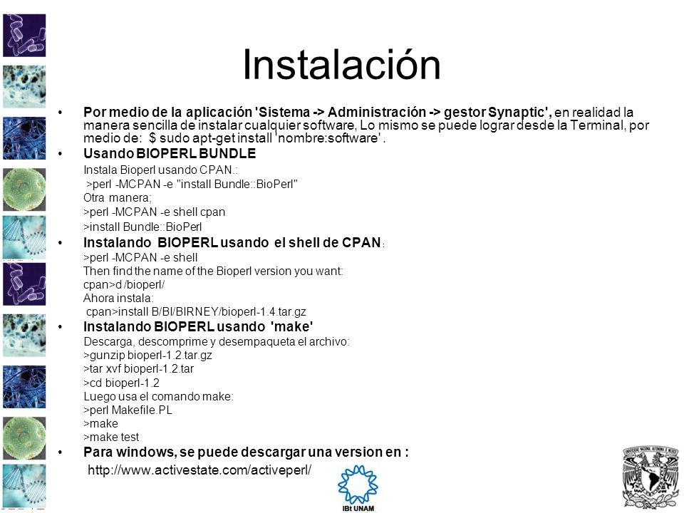 Instalación http://www.activestate.com/activeperl/